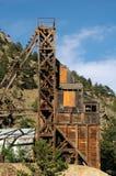 Fim da mina de ouro acima imagens de stock royalty free