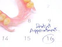 Fim da nomeação do dentista acima Fotos de Stock Royalty Free