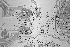 Fim da placa de circuito eletrônico acima. ilustração do vetor