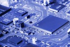 Fim da placa de circuito eletrônico acima Fotos de Stock
