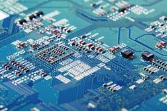 Fim da placa de circuito eletrônico acima Foto de Stock Royalty Free