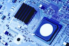 Fim da placa de circuito eletrônico acima Imagem de Stock Royalty Free