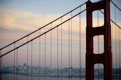 Fim da ponte de porta dourada acima Foto de Stock Royalty Free