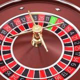 Fim da roleta do casino acima Imagem de Stock