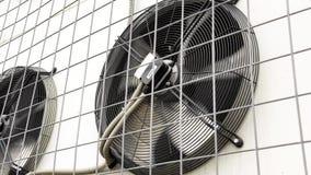 Fim da rotação das lâminas do condicionador de ar acima vídeos de arquivo