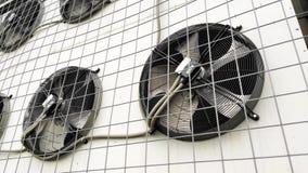Fim da rotação das lâminas do condicionador de ar acima video estoque