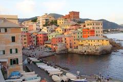 Fim da tarde em Genoa Boccadasse Fotos de Stock