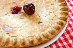 Fim da torta da cereja acima Fotos de Stock Royalty Free
