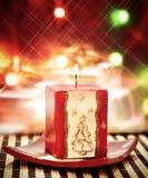 Fim da vela de Christmass acima Fotos de Stock Royalty Free