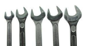 Fim de aço inoxidável da chave acima Foto de Stock