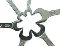 Fim de aço inoxidável da chave acima Fotos de Stock