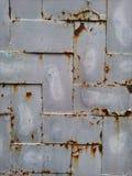 Fim de aço oxidado da textura acima da vista Fotografia de Stock