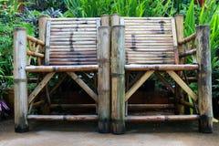 Fim de bambu velho da cadeira acima Fotos de Stock Royalty Free