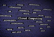 Fim de computação do azul da nuvem Fotografia de Stock Royalty Free