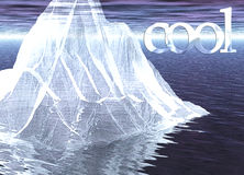 Fim de flutuação do iceberg acima com a mensagem fresca ilustração royalty free