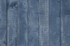 Fim de madeira azul e cinzento da tabela acima As placas de madeira pintaram no azul cinzento Fundo da textura da madeira do vint fotografia de stock royalty free