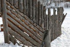 Fim de madeira da cerca do vintage acima fotografia de stock royalty free