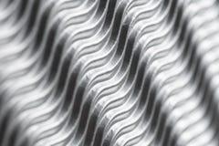 Fim de prata acima do fundo da estrutura das ondas Papel agradável com espaço para o texto fotografia de stock royalty free