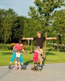 Fim de semana em patins de rolo fotografia de stock royalty free