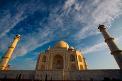 Fim de Taj Mahal acima fotos de stock royalty free