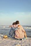 Fim de um dia perfeito na praia Fotografia de Stock