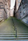 Fim de Warristons, Edimburgo, Escócia imagens de stock