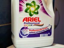 Fim detergente de Ariel acima do tiro fotografia de stock