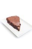 Bolo da brownie do chocolate Fotos de Stock Royalty Free