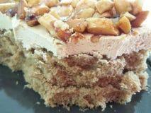 Fim do bolo do caramelo acima do detalhe Foto de Stock