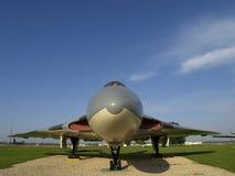 Fim do bombardeiro de B.35/36 Vulcan acima. Fotografia de Stock