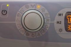 Fim do botão 3 da máquina de lavar foto de stock