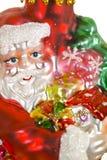 Fim do brinquedo de Papai Noel acima imagens de stock royalty free
