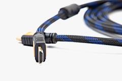 Fim do cabo de HDMI isolado acima Imagem de Stock Royalty Free