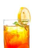 Fim do chá do limão do gelo acima Imagens de Stock Royalty Free