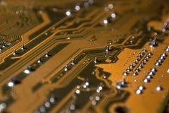 Fim do circuito do cartão-matriz acima fotos de stock royalty free