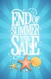 Fim do conceito de projeto da venda do total do verão, estilo do vintage ilustração royalty free