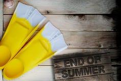 Fim do conceito do verão Imagem de Stock