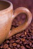 Fim do copo de café acima Imagens de Stock