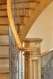 Fim do corrimão da escadaria acima Fotografia de Stock Royalty Free