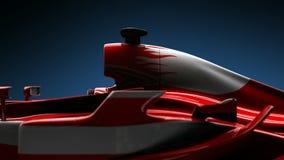 Fim do detalhe do carro do Fórmula 1 acima ilustração royalty free