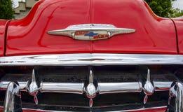Fim 1953 do fim da fonte de Chevrolet Bel Air acima Fotos de Stock Royalty Free