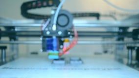 fim do funcionamento da impressora 3D acima Fundo borrado filme