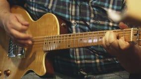 Fim do jogador de guitarra acima video estoque