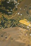 Fim do macro da placa de circuito impresso acima Imagem de Stock Royalty Free