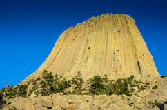 Fim do monumento nacional da torre dos diabos acima de Wyoming Foto de Stock Royalty Free