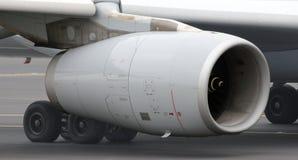 Fim do motor de jato dos aviões acima Imagens de Stock Royalty Free