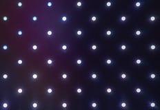 Fim do painel do diodo emissor de luz acima Uma fileira de diodos luminescentes imagens de stock