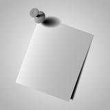 Fim do papel de nota acima no fundo branco EPS10 Imagens de Stock Royalty Free
