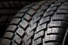 Fim do passo do pneu acima Imagens de Stock Royalty Free
