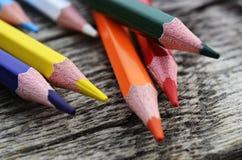 Fim do pastel do lápis acima Imagem de Stock